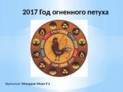 Выполнил:  Миндрин Марк 5 в 2017 Год