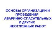 исп. Федорук В. С. ОСНОВЫ ОРГАНИЗАЦИИ И ПРОВЕДЕНИЯ