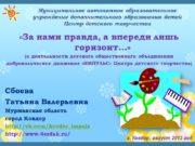 Муниципальное автономное образовательное учреждение дополнительного образования детей Центр