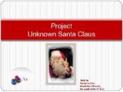 Project Unknown Santa Claus Made by Vasilyeva Irina