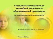 Управление изменениями во внеучебной деятельности образовательной организации Как