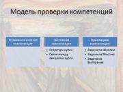 Модель проверки компетенций Блиц 7 Дайте определение выгоранию