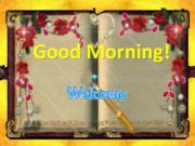 Good Morning I wish you good luck