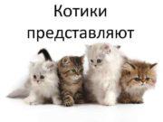 Котики представляют Йогурт питательный кисломолочные продукт