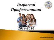 Вырасти Профессионала 2014 -2016 Спонсорский пакет Официальное