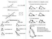 Смежные углы Признаки равенства треугольников 1 По двум