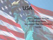 USA Work Safonov Nastya Krokhaleva Dasha Semenova
