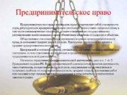 Предпринимательское право как отрасль права представляет собой совокупность