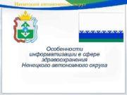 Ненецкий автономный округ Особенности информатизации в сфере здравоохранения