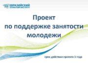 Проект по поддержке занятости молодежи срок действия проекта