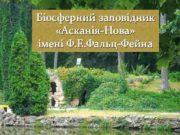 Біосферний заповідник Асканія-Нова імені Ф Е Фальц-Фейна