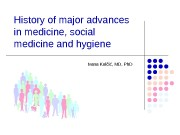History of major advances in medicine, social medicine