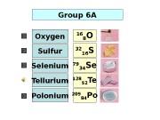 128 52 Te. Group 6 A 16 8