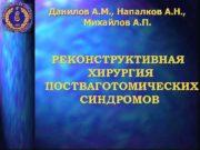 Данилов А М Напалков А Н
