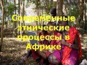Современные этнические процессы в Африке Состояние этнических
