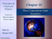 Principles of Corporate Finance Seventh Edition Chapter 15