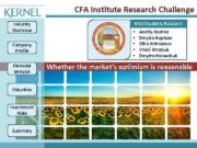 CFA Institute Research Challenge Industry Overview Company Profile