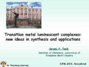 Transition metal luminescent complexes new ideas in synthesis