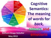 Bárbara Eizaga Rebollar May 2015 Cognitive Semantics The