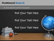 Chalkboard Zoom In An Animated Power Point Template