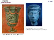 СТЕКЛО ЕГИПЕТ ДРЕВНЕЕ СТЕКЛО Голова царицы из светло-синего