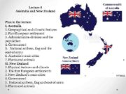 Lecture 8 Australia and New Zealand Plan to
