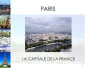 PARIS LA CAPITALE DE LA FRANCE 1