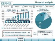 Financial analysis Revenue EBITDA margin CAGR 38 8