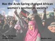 Has the Arab Spring changed African women s position