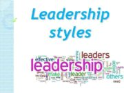 Leadership styles What does mean leadership style