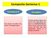 Composite Sentence 1 Compound The clauses of which