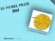 Ig Nobel Prize 2014 By Maxim Shebelsky EPIC