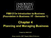 FBB 1213 Introduction to Business Foundation in Business