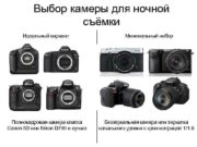 Выбор камеры для ночной съёмки Идеальный вариант Полнокадровая