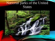 National parks of the United States The national
