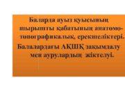 Баларда ауыз қуысының шырышты қабатының анатомотопографикалық ерекшеліктері Балалардағы
