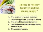 Theme 2 Money turnover and the money supply