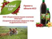 Проект в области КСО ООО Национальная водная компания
