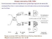 Размер наночастиц Cd S Cd Se Схема изменения