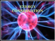 ENERGY CONSERVATION Types of energy ELECTRICAL