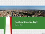 Political Science Italy Hryshko Oxana Italy is