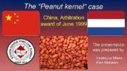 The Peanut kernel case China Arbitration award of