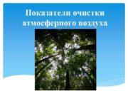 Показатели очистки атмосферного воздуха защита атмосферного воздуха