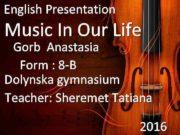English Presentation Music In Our Life Gorb Anastasia