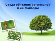 Среда обитания организмов и ее факторы Эрнст