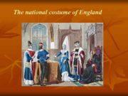 The national costume of England English folk