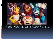 FIVE NIGHTS AT FREDDY S 1 2 Аниматроники