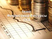 Тема Финансовые ресурсы СКД План Ключевые слова
