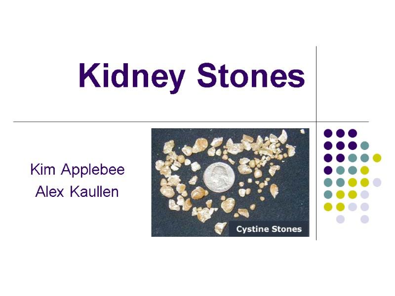 Kidney Stones Kim Applebee Alex Kaullen Definition Kidney