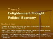 Theme 3 Enlightenment Thought Political Economy Readings to